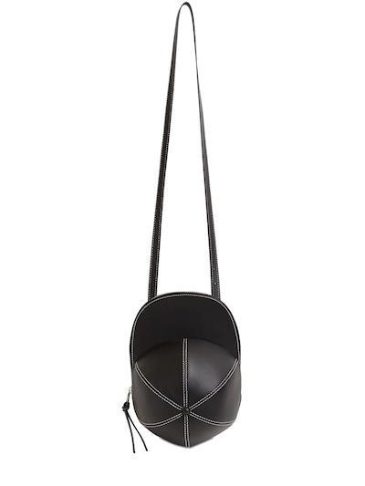JW ANDERSON Cap Leather Bag Black