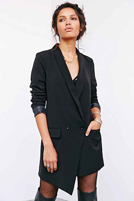 Silence   noise asymmetrical long blazer