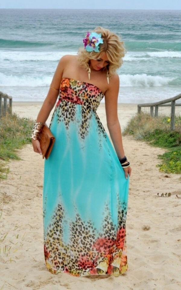 Turquoise Maxi Dress Photo Album - Reikian