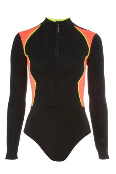 Topshop bodysuit black underwear