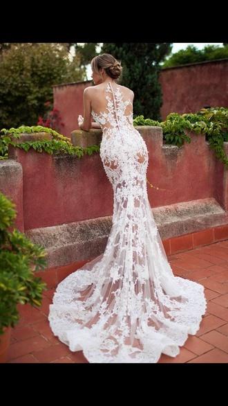 dress wedding lace white dress wedding dress