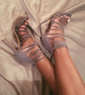 shoes,high heel sandals,grey,strappy heels