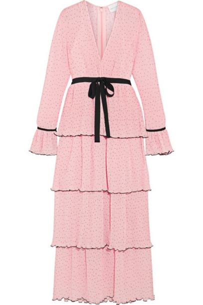 Alice McCall dress maxi dress maxi chiffon pastel pink pastel pink