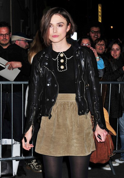 keira knightley black sweater jacket