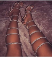 shoes,shiny,sparkle,heels,glitter,stilettos,strappy heels,strappy sandals,gladiators,knee high gladiator sandals,high heel sandals,high heels,diamonds,gold,rhinestones