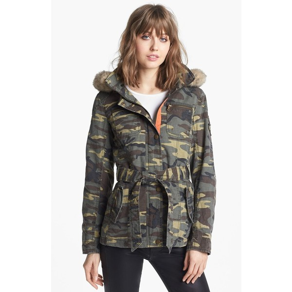 Buffalo by David Bitton Faux Fur Trim Camo Parka X-Large - B... - Polyvore
