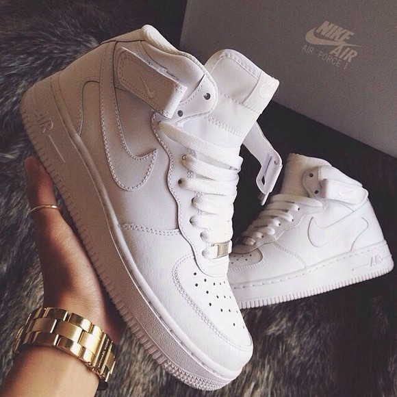 nike sneakers nike air colour style nike shoes for women shoes clothes trends withe air force 1 white nike air force one white nike air force