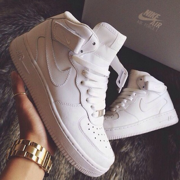 nike shoes white colour. shoes clothes trendy withe nike air force 1 white colour u