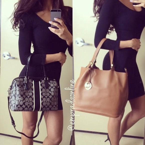 handbag bag michael kors style elegant leather bag