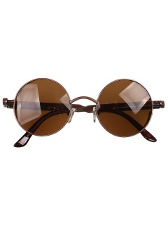 Round sunglasses with metal spring frames