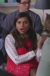 top,the mindy project,mindy kaling,skirt,vest,sweater