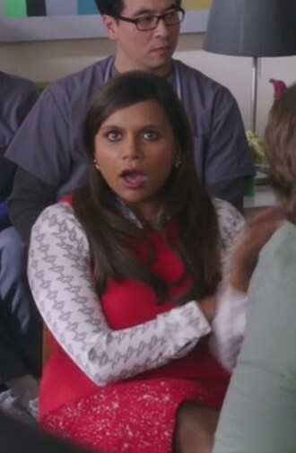top the mindy project mindy kaling skirt vest sweater