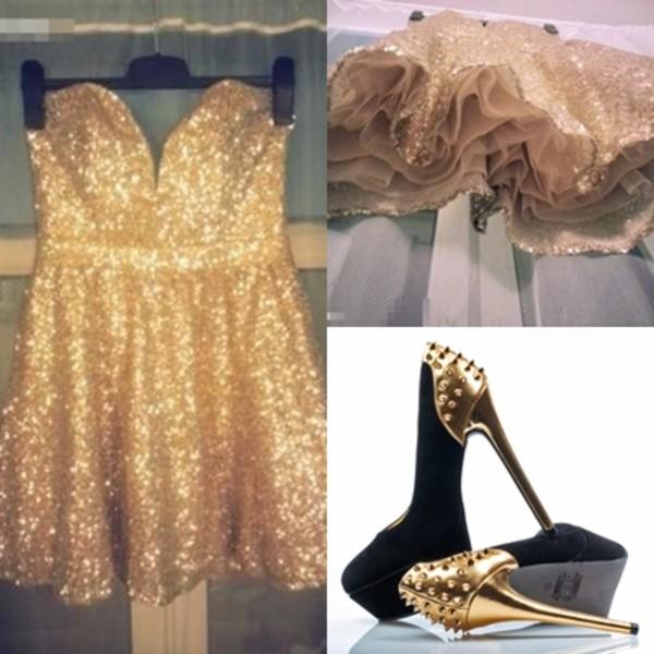 dress sequin dress sequins gold sequins gold dress sleeveless mini skirt clubwear shoes