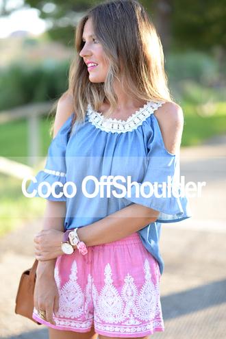 mi aventura con la moda blogger top shorts bag shoes
