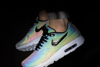 shoes nike nike running shoes colourful print rainbow