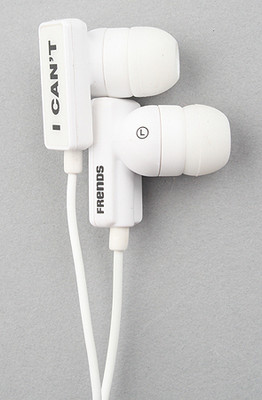 Frends Headphones The Clip I Can't Hear U Ear Buds in White