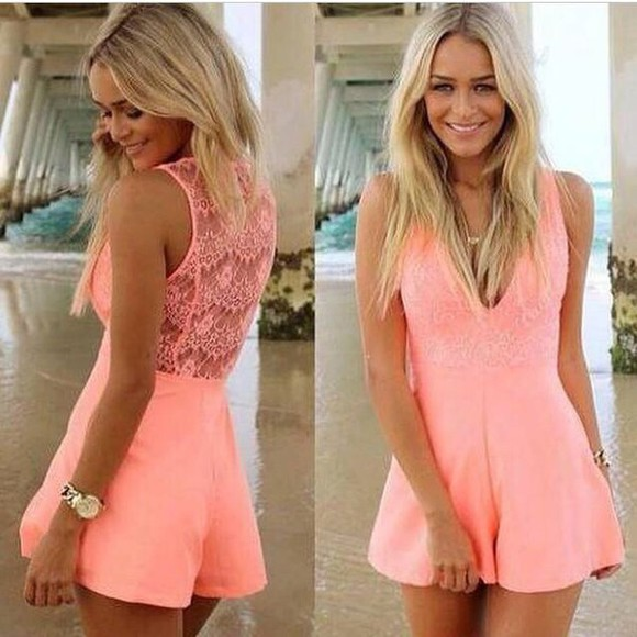 pink dress cute dress romper