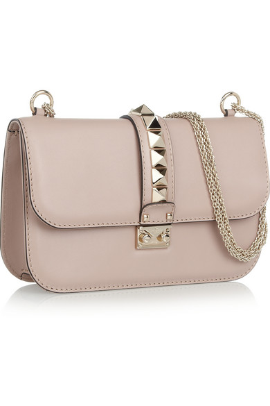 Glam lock medium leather shoulder bag