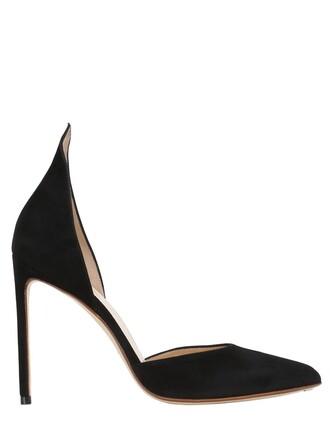 d'orsay pumps pumps suede black shoes