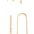 Luv Aj The Scattered Pave Hook Earrings - Antique Gold