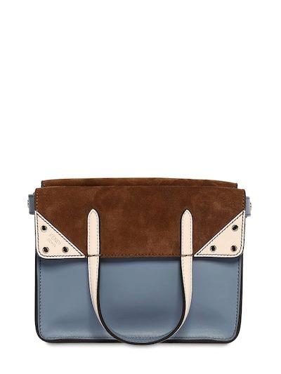 FENDI Sm Flip Top Handle Bag Blue