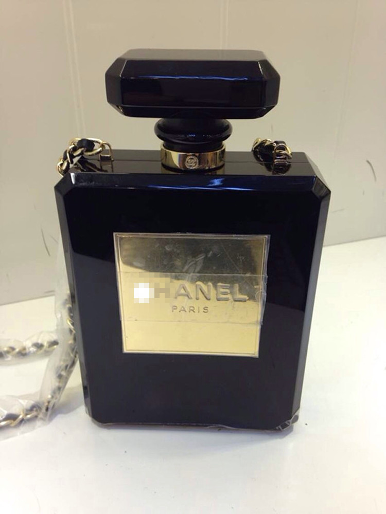 Small 2014 limited edition no . 5 perfume bottle bags transparent evening  bag mini one shoulder chain ... 2e34dc4a6d0