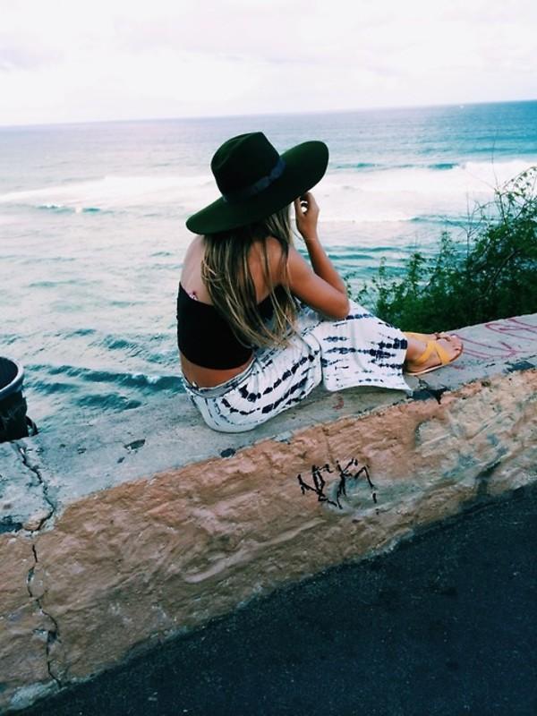 skirt maxi skirt beach beach flowy boho tie dye