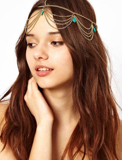 Boho turquoise crown