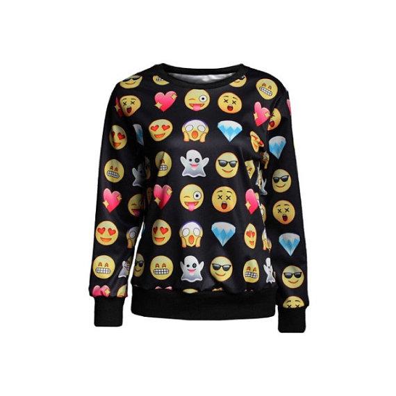 emoji women unisex ladies sweater popular emoji shirt icon