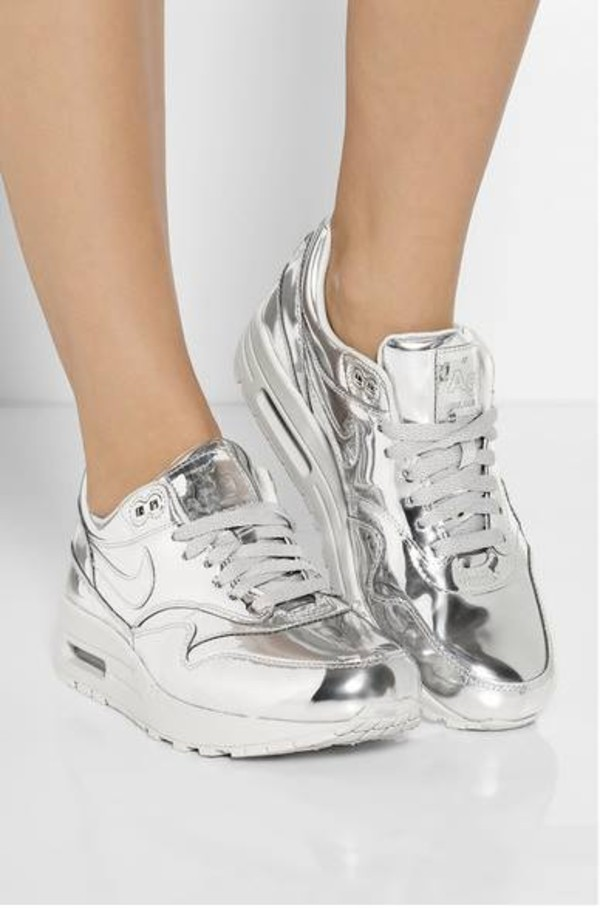 shoes nike silver sneakers atropina air max air max
