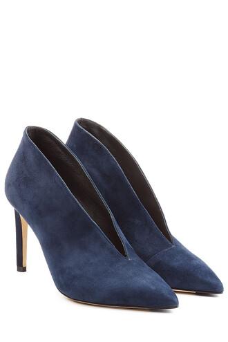 suede pumps pumps suede blue shoes