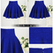 Retro women high waisted flippy flared concealed zip royal blue mini short skirt | ebay