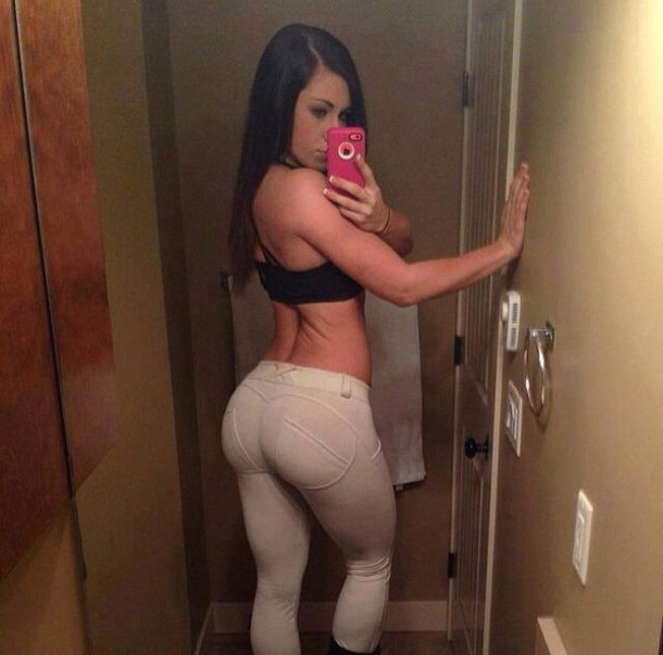 Thick pawg in grey tights 7