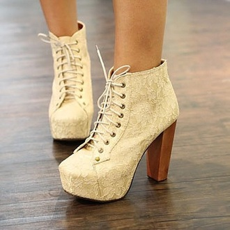 shoes white high heels lace up lace up heels lace up ankle boots wooden heel prom shoes cute high heels
