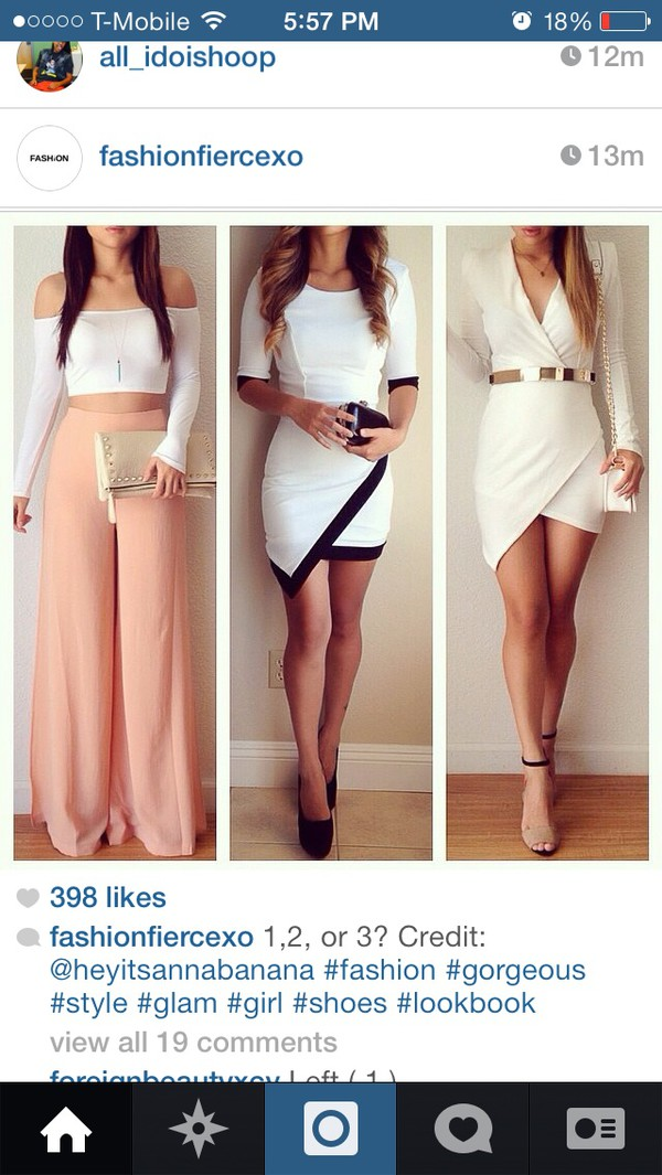 dress white crop tops blouse shoes