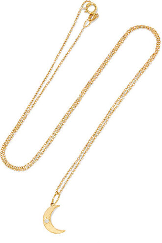 moon opal necklace gold jewels