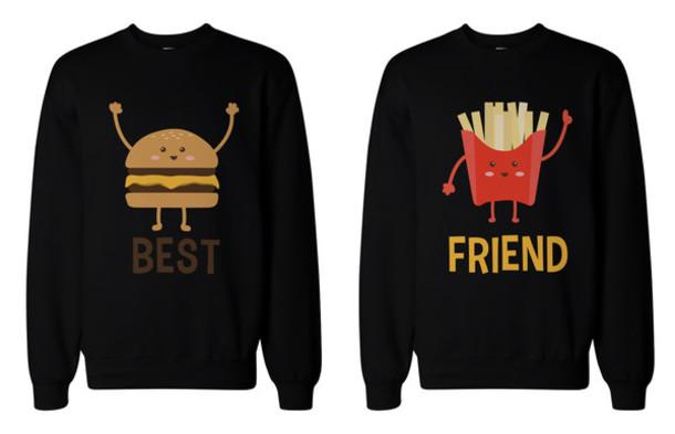 sweater, matching sweatshirt, bff sweaters, bff ...