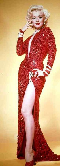 dress marilyn monroe red