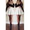 Stylish long sleeve croptop with white rose skirt set - $19.42