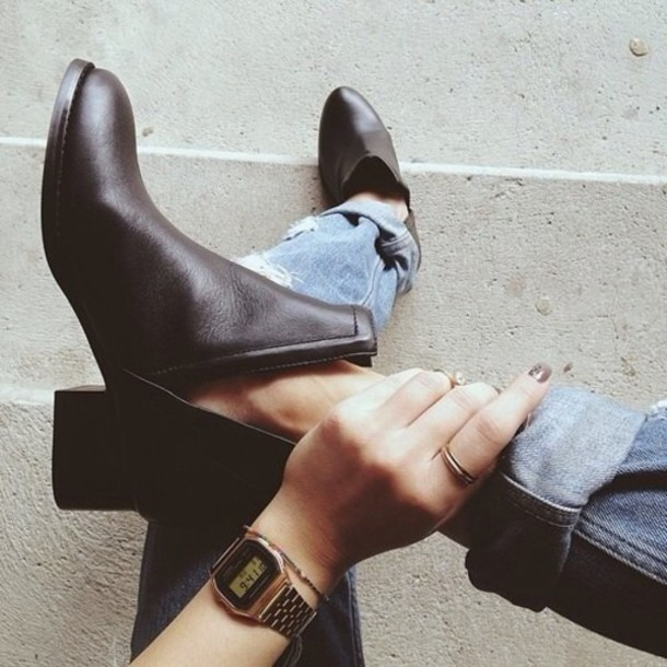 shoes boots ankle boots black ankle boots cut black booties black cut-out black boots heel boots heels leather boots