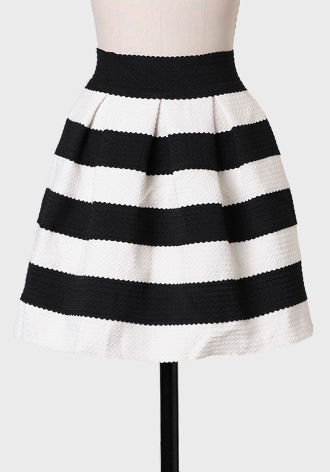 Rightly So Striped Skirt