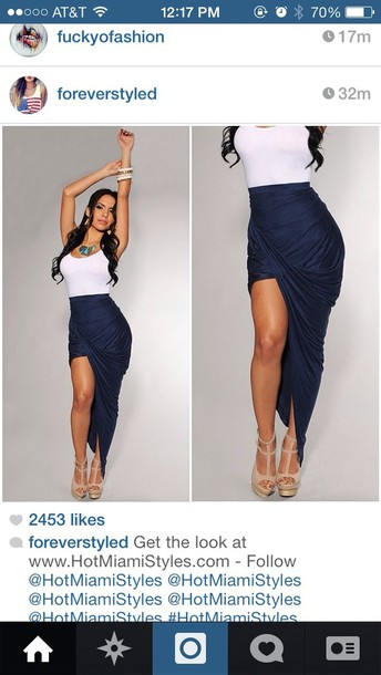 skirt navy blue skirt blue