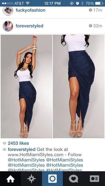 skirt navy blue skirt