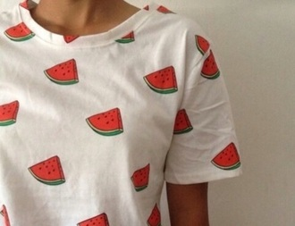 t-shirt watermelon print top food graphic tee