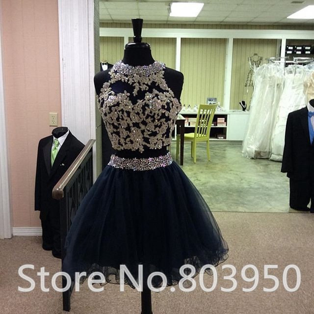 85412bbb71 Aliexpress.com   Buy 2015 Vestido Graduacion Fashion 2 Piece 8th Grade  Graduation Dress Appliques Beading Plus ...
