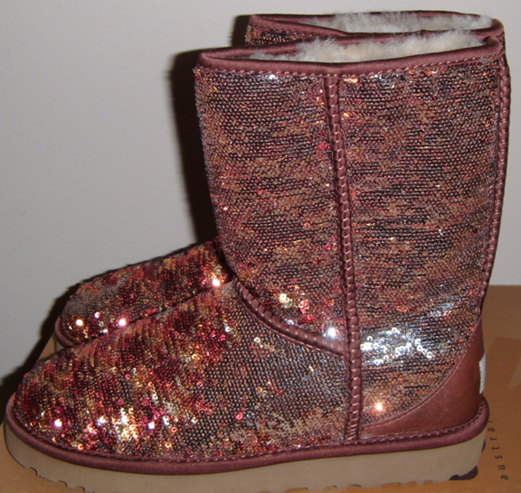 UGG women's Autumn SHORT SPARKLES boots sz. 6 BLING SEQUINS NEW IN BOX | eBay