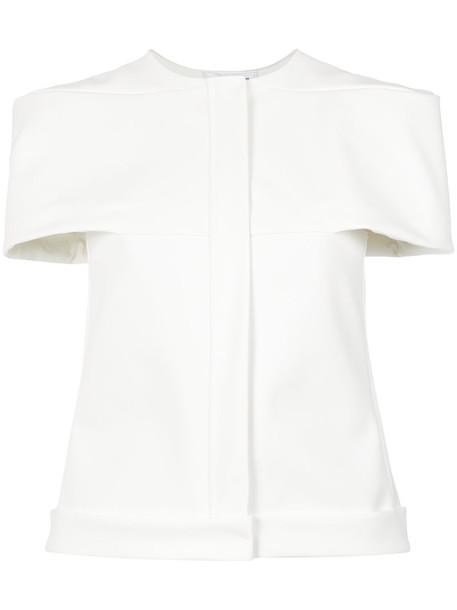 Gloria Coelho blouse women spandex fit white top