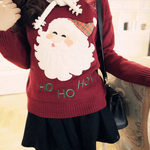 Sweater: christmas, winter outfits, santa, cute, trendy, college ...
