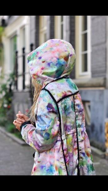 coat metallic raincoat colorful