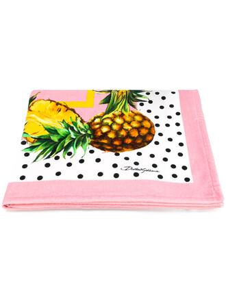 women pineapple pineapple print cotton print purple pink top